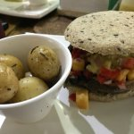 Portobello Burger w/ Papas Cambray