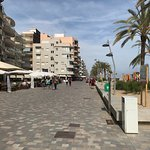 Boardwalk of shops, restaurants, etc