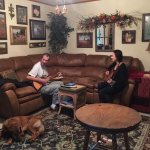 I had a little acoustic jam session with innkeeper Jessica in the shared living room.