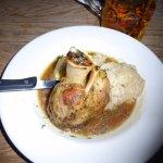 Shankwith mashed potato and kraut