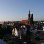 Blick auf die Liebfrauenkirche und den Morgen von Liegnitz