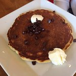 Specialty pancake with chocolate chips