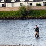 You can see salmon anglers on the River Ness from the window of the Stewart room