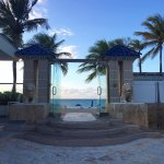 Entrance to the beach from the pool area.