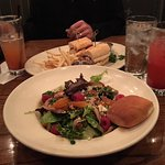 Raspberry Salad and Rotisserie Chicken Sandwich