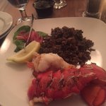 This was my lobster dinner. I am not a big eater, but this time I actually finished my entire pl