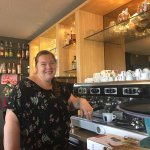 The fabulous Esther in the Brasserie - the most accommodating host ever!