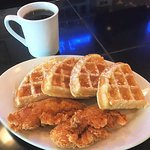 Join us for breakfast and try our chicken and waffles!