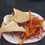 BLT on Sourdough toast with Sweet Potato fries