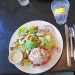 Tuna salad stuffed tomato