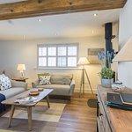 open plan kitchen, lounge, diner, log burner and wifi