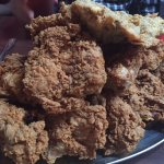 Fried chicken piled high