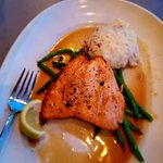 Scottish Salmon with Honey glaze and garlic mash potato