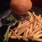 Burger with Jack Daniel's sauce