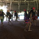 Tribal dance performance by the Embera's