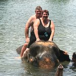 Fantastic ride in the water the elephants are so well trained and the keeps are perfect with the