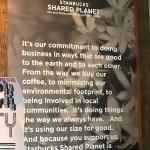 #Starbucks shared planet explanation, Starbucks 10948 100th Avenue   RioCan Centre, Grande Prair