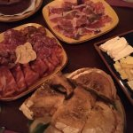 meat, cheese and bread