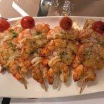 yummy grilled shrimp brochette style