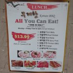 All you can eat lunch special