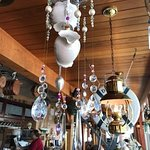 Handmade wind chimes of upcycled housewares, Dinghy Dock Pub & Floating Restaurant 8 Pirates Lan