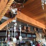Windchimes of upcycled house wares, Dinghy Dock Pub & Floating Restaurant 8 Pirates Lane, Nanaim