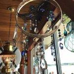 Cool hand made wind chimes, Dinghy Dock Pub & Floating Restaurant 8 Pirates Lane, Nanaimo, Briti