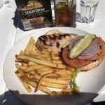 Chicken Burger meal Dinghy Dock Pub & Floating Restaurant 8 Pirates Lane, Nanaimo, British Colum
