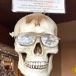 Skull of long lost patron, Dinghy Dock Pub & Floating Restaurant 8 Pirates Lane, Nanaimo, Britis