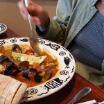 Cioppino. Tomato stew with Halibut, Prawns, Mussels and Clams.