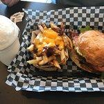 Vanilla shake and classic burger