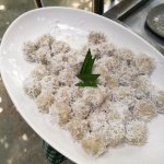 dessert - yam with coconut flakes