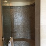 The Steam Room with rain shower and water jets in the Spa King Room