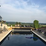 Outdoor pool with a view