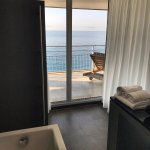 amazing bathroom with sea view