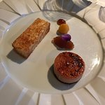 One of the courses in the tasting menu