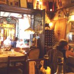 Inside this quaint Ristorante to outside table area