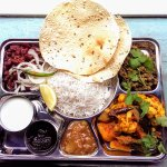 Vegetarian Thali for 2 - served Sun-Tue