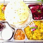 South Indian veg thali for 2 - served Sun-Tue