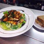 Warm peppered chicken salad