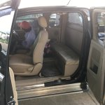 Car sent by hotel for four passengers - no rear seatbelts