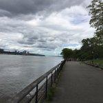 along the river walk--George Washington Bridge in the distance