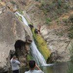 Paradise Wasserfall mit Springer