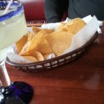 warm chips and margarita