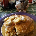 The bananas foster pancakes are out of this world!
