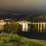 Lake Wakatipu view in the night from my balcony
