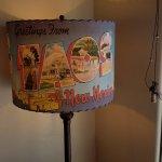 Lamp inside hotel lobby