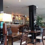 The interior at the Leatherhead Prezzo, taken when it had just opened at noon on Monday 29 May 2