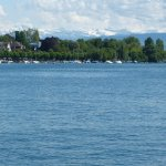 Zurich Lakes and snow capped mountains in the background