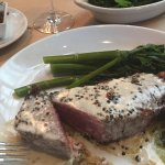 Pepper-crusted prime NY steak